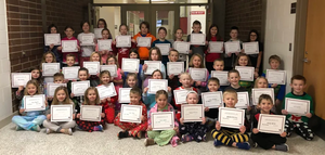 Elementary Recognizes Students