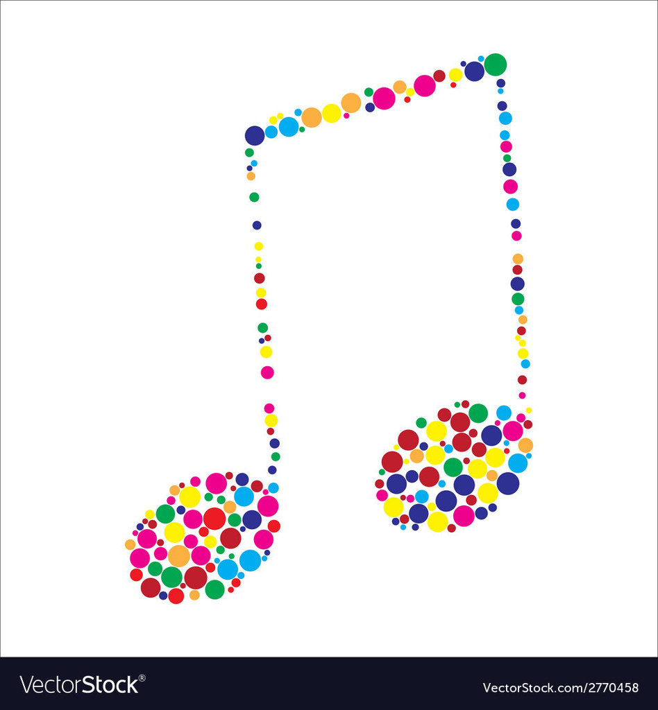 polka dots shaped into music note