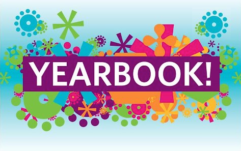 """Yearbook"" with colorful flowers"
